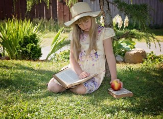 Photo of girl reading