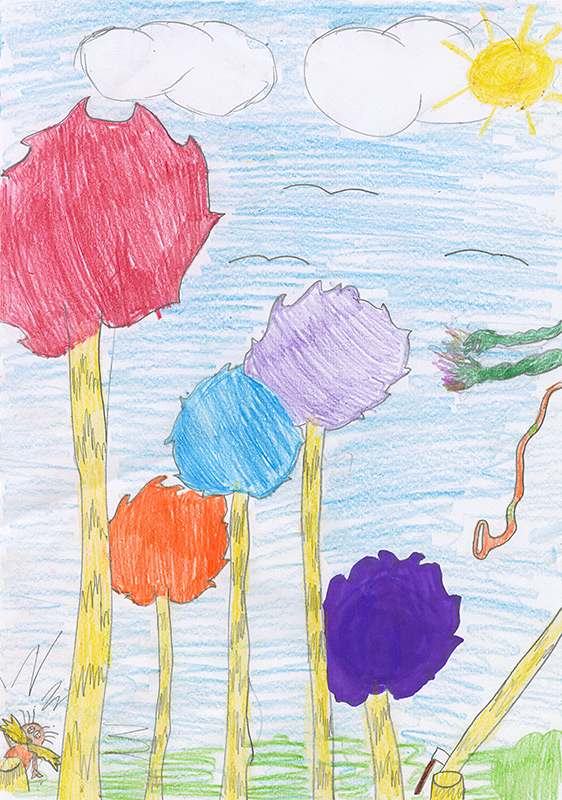 """Jenna Painter, New Bloomfield - """"The Lorax"""" by Dr. Suess"""