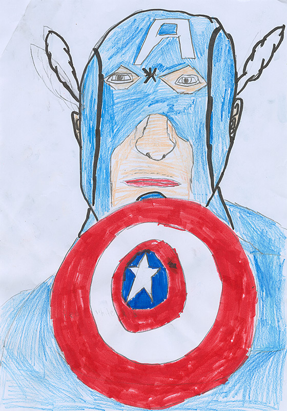 """Jackson Lovell, Auxvasse - """"The Courageous Captain America"""" by Rich Thomas"""