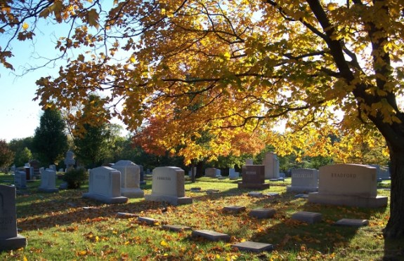 Columbia Cemetery in fall