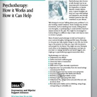 Psychotherapy- How it Works