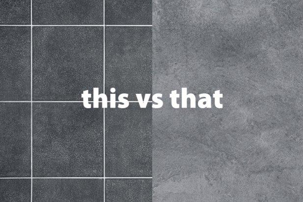 hard tiled flooring vs concrete