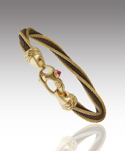 Cable Twist Bracelet – Black and Gold