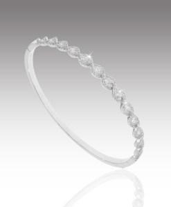 Diamond Braid Bangle