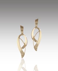 Ribbon Drop Earrings