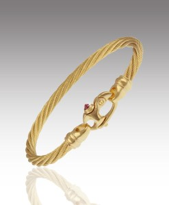 Ruby Cable Bracelet