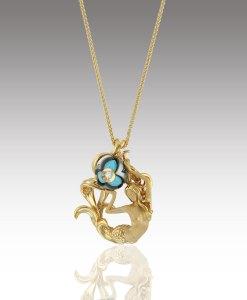 Turquoise Pearl Mermaid Pendant