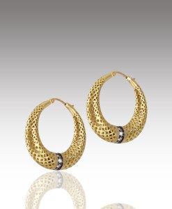 Crownwork Hoop Earrings