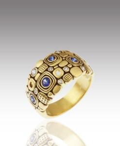 Sapphire Windows Ring