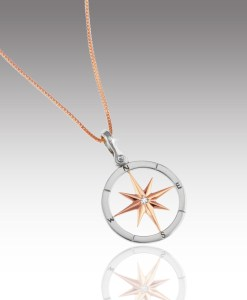 Rose Gold Compass Rose