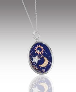 Moon, Stars and Sun Pendant