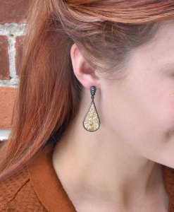 Natural Diamond Teardrop Earrings
