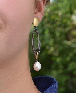 Long 'Scribble' Earrings
