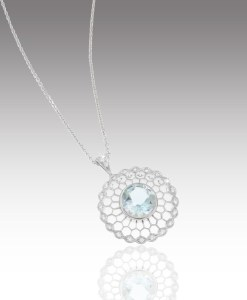 Aquamarine Mandala Pendant