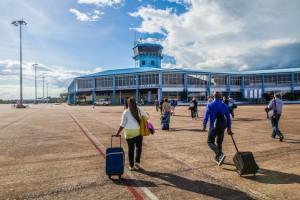 luchthaven-toeristenkaart vanuit bril luchthaven