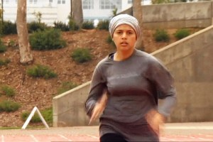 Sarah Attar, shown training, will run in the 800-meter race. IOC