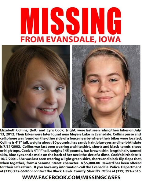 Missing Iowa Girls: Search Now Past Critical 24-Hour Period