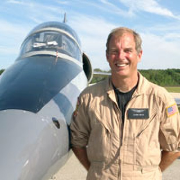 Glenn Smith, 58, of Frisco, Texas, was killed when his jet crashed Saturday at the Quad-City Air Show. (Photo from Hopperflight.com.)