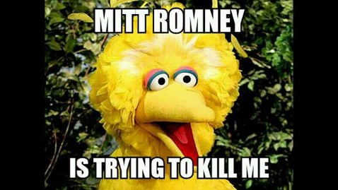 Romney Vs Big Bird:  Presidential Hopeful Wants To Axe PBS