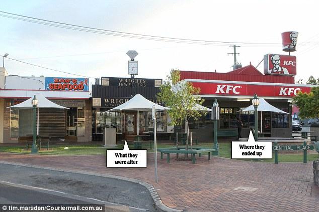 Jewellery Raid KFC:  Robbers Mistake Restaurant For Jewelry Store