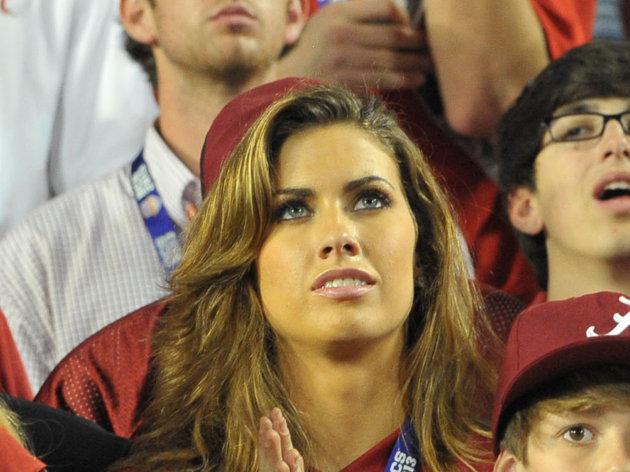 Aj Mccarron Girlfriend: Miss Alabama katherine Webb Turns Heads At Game