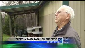 Man, 82, Tackles Suspect With Football Style Body Block
