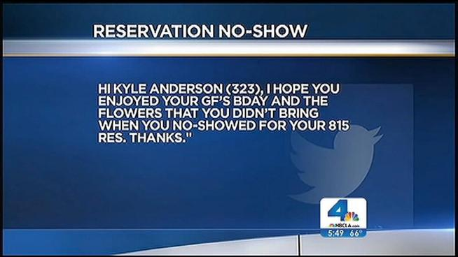 Reservation no-shows Outed On Twitter