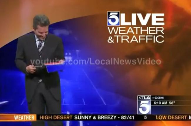 Weatherman Falls For Bart Simpson trick On Air (VIDEO)