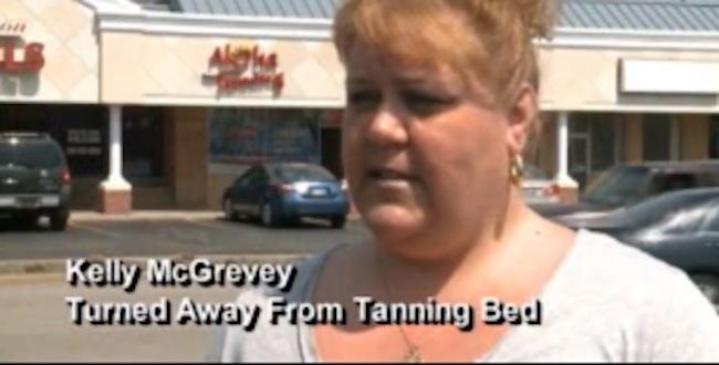 Woman too Fat To Tan in Ohio Salon