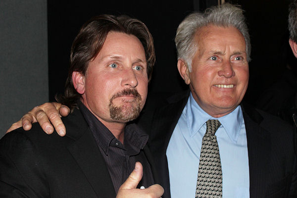 Martin Sheen and Emilio Estevez at the BFI. Premiere of 'The Way', NFT, London. 21st February 2011