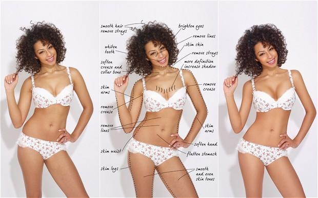 "Debenhams lingerie Models To Appear ""Untouched"""
