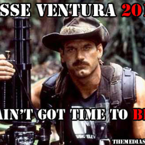 Former Minnesota Gov. Jesse Ventura, who rarely returns to the Capitol offices he occupied from 1999 to 2003, took the opportunity to say that an independent fellow like him would make an excellent candidate for president in 2016.