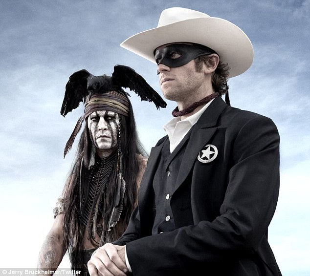 """Johnny Depp plays """"Tonto"""" in a 2013 adaptation of """"The Lone Ranger"""" the famous 1950s TV series."""