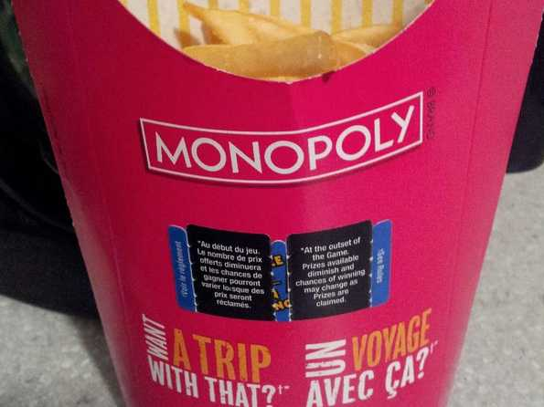 Mcdonald's Monopoly Back: So What Are You Chances Of Winning?