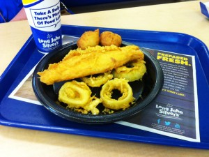 Long John Silver's Big Catch platter will net you 33 grams of trans fats in one meal. Courtesy of Clare Politano/Center for Science in the Public Interest