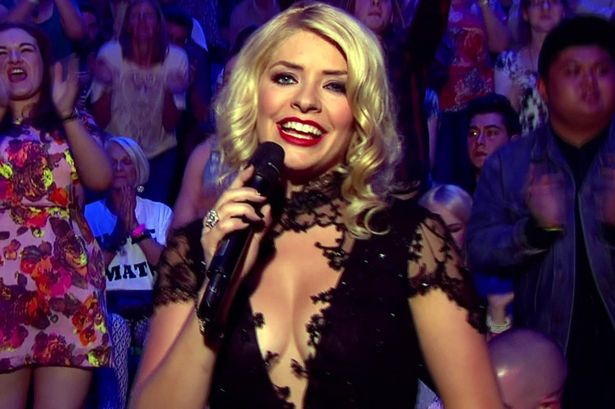 holly willoughby cleavage Raises Eyebrows During Show