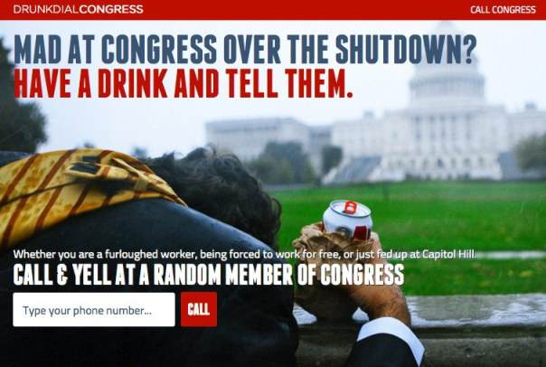 Drunk Dial Congress:  Have A Drink Or Two Voice Your Opinion