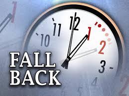 Turn the clocks back, Daylight Savings Time Is Nov 3