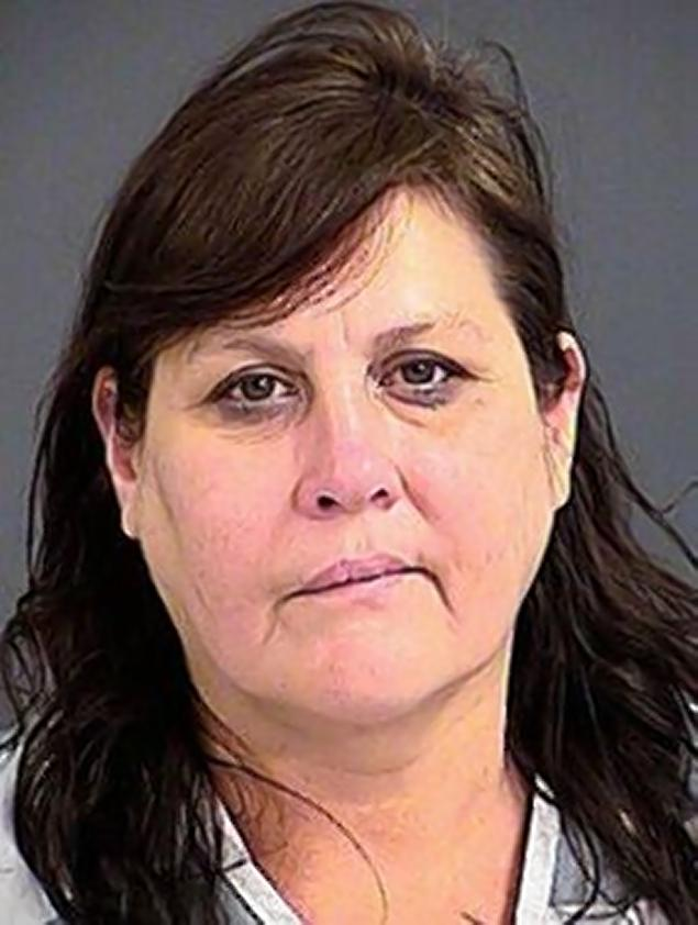 NORTH CHARLESTON POLICE DEPARTMENT Helen Ann Williams, 44, was charged with domestic violence for stabbing her husband with a ceramic squirrel. Read more: http://www.nydailynews.com/news/crime/man-stabbed-ceramic-squirrel-failing-buy-beer-article-1.1560341#ixzz2ooUFNji1