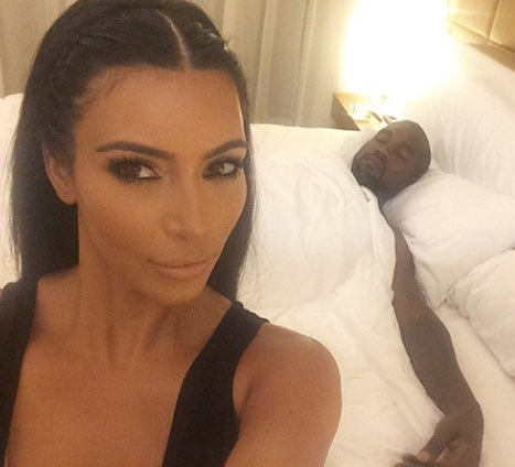 "Kim Kardashian posted a picture of Kanye West sleeping in Ibiza, Spain, and joked about her husband's ""side chicks"" via Instagram on Saturday, Aug. 2 Credit: Courtesy Kim Kardashian"