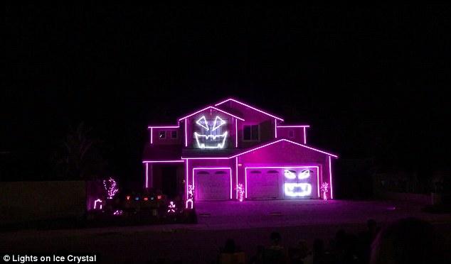 12000 light halloween home