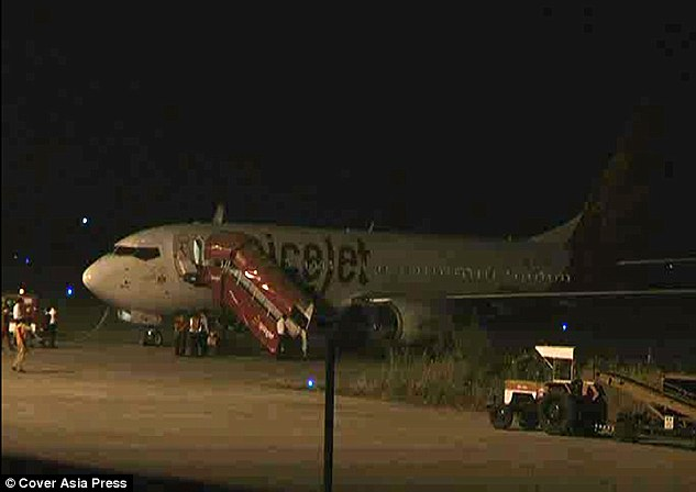 Emergency: SpiceJet flight SG66 was left grounded and damaged after hitting a stray buffalo on the runway