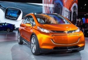 The Chevrolet Bolt EV concept vehicle makes its global debut Monday, January 12, 2015 at the North American International Auto Show in Detroit, Michigan. The Bolt EV concept is Chevrolet's vision for an affordable, long-range, all-electric vehicle designed to offer more than 200 miles of range - starting around $30,000. (Photo by John F. Martin for Chevrolet)