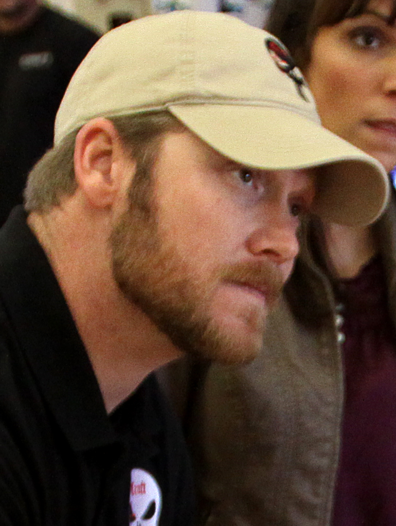 """""""Chris Kyle January 2012"""" by Cpl. Damien Gutierrez - This file was derived from:Chris Kyle at Camp Pendleton.jpg. Licensed under Public Domain via Wikimedia Commons - http://commons.wikimedia.org/wiki/File:Chris_Kyle_January_2012.jpg#mediaviewer/File:Chris_Kyle_January_2012.jpg"""