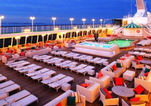 The pool area on a Crystal cruise ship. (Photo: Ian Schemper)