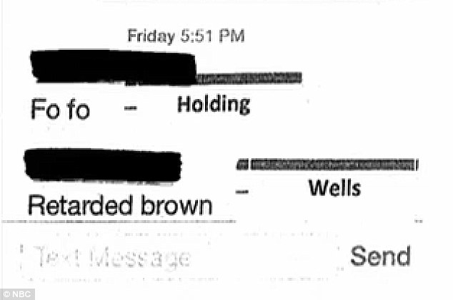 'Misconduct': In a response to Jason Holding, his colleague James Wells calls someone a 'retarded brown'
