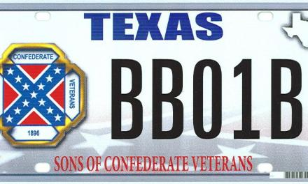 Texas Confederate Flag On License Plates
