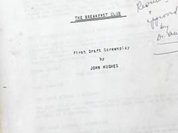 'Breakfast Club' script Found in Old File Cabnet