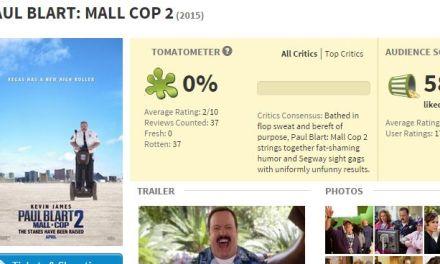 Paul Blart Mall Cop Reviews:  Yep It Stinks