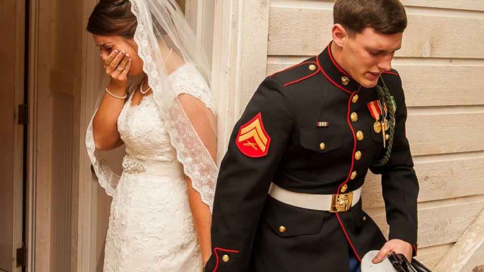 Marine bride pray photo goes viral